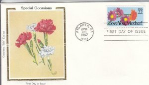 1987, Special Occasions-Love You, Mother, Colorano Silk, FDC (E7484)