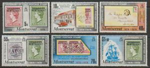 Montserrat SG 356 - 361  Mint  Hinge set of 6  - Stamps
