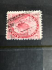 Canada #78 Used 3c QV Numeral 60% SQ. Circle GORE BAY/NO25/ RF 20 Fine
