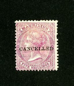 Mauritius Stamps # 41 Unused Rare Scott Value $250.00