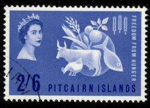 PITCAIRN ISLANDS SG32 1963 FREEDOM FROM HUNGER FINE USED