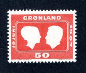 Greenland 69,   VF, Mint Unused, crease,  CV $ 3.50 ....2510114