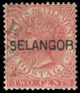 Malaya / Selangor Scott 7l Gibbons 30 Used Stamp