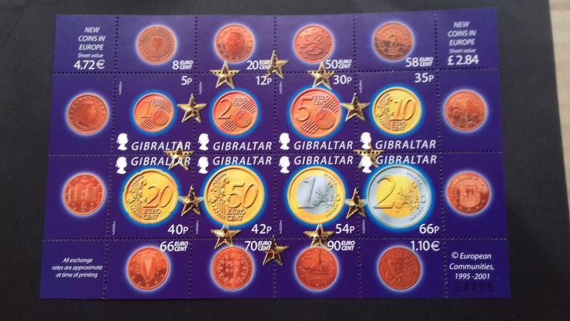 Gibraltar 2002 Euro Coins Mint