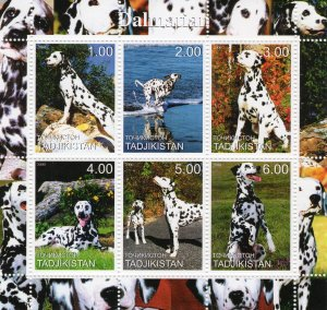 Tajikistan 2000 -   DOGS DALMATIAN - Sheetlet (6)  MNH