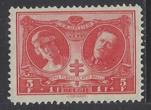 Belgium, Scott #B63; 5fr + 1fr Queen Elisabeth and King Albert, MLH