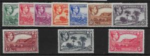 MONTSERRAT SG101/10 1938 PERF 13 DEFINITIVE SET MTD MINT