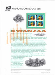US CP591 Kwanzaa 3368 Commemorative Panel Mint