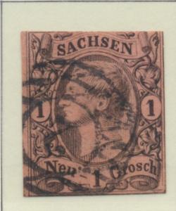 Saxony (German State) Stamp Scott #10, Used - Free U.S. Shipping, Free Worldw...