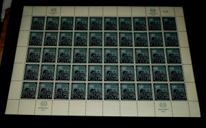 U.N. 1953, NEW YORK #16, REFUGEE ISSUE, MNH, SHEET/50, CONTROL #038, NICE! LQQK!