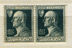 ITALY; 1920s early Volta issue fine Mint MNH 50c. pair