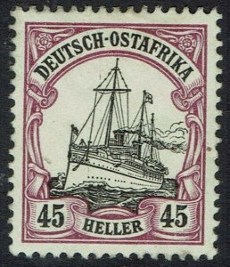 GERMAN EAST AFRICA 1905 YACHT 45H NO WMK