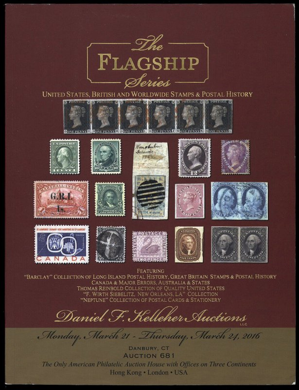 Kelleher auction catalog: Sale 681 The Flagship Series March 21-24, 2016