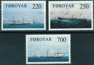 Faroe Islands 1983 #90-2 MNH. Steamships
