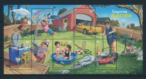 [74719] Australia 2009 Inventive Wine Gold OVP Melbourne Stampshow Sheet MNH
