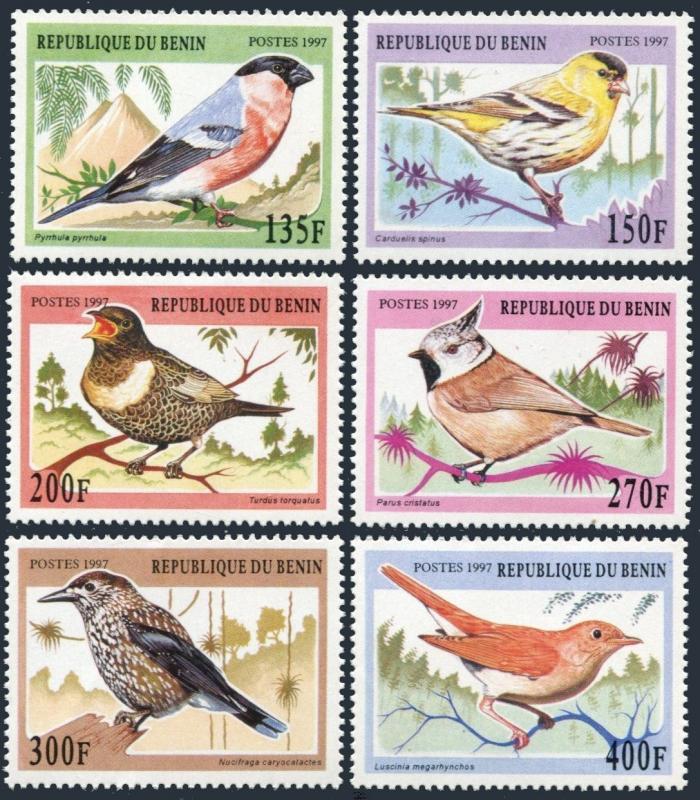 Benin 994-999,MNH.Michel 957-962. Songbirds,1997.