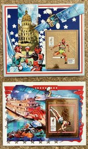 Stamps Gold Deluxe Bloc + S/S Olympic Games Atlanta 96 Madagascar