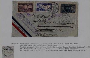 Venezuela/Netherlands airmail cover 29.4.38