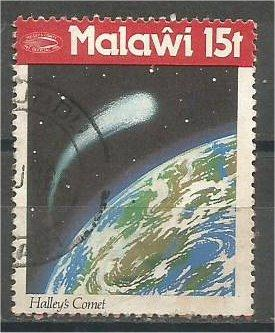 MALAWI, 1986, used 15t, Halley's Comet Scott 479