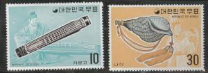 Korea Scott 883-884 MNH** Feb 20 1974 Music stamp set