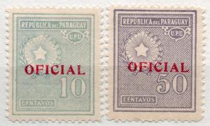 (I.B) Paraguay Postal : Official Overprints