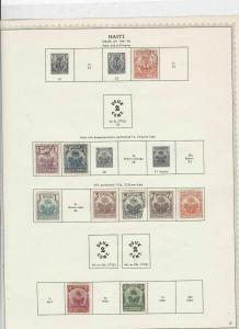Haiti 1891-98 Stamps on page Ref 15569