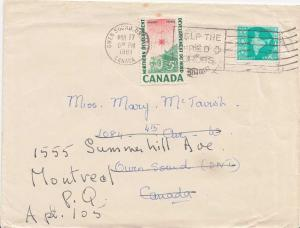Canada India 8np Map of India 1961 to Owen Sound, Ont.  5c Northern Developme...