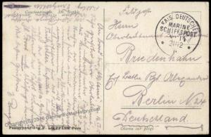 Germany Offices Turkey Navy MSP14 Akdemis Marineschiffspost Feldpost Cover 63918
