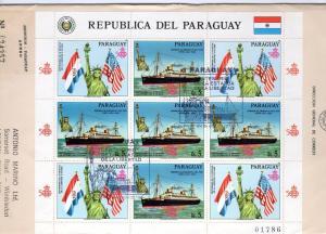 Paraguay 1986 Cent.Statue Liberty Shlt (5+4L) Sc 2179 FDC