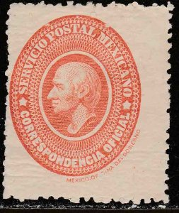 MEXICO O3, OFFICIAL. UNUSED, H OG. F. (1197)