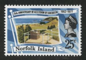 Norfolk Island Scott 218 MNH** 1977 QE2 Reign stamp