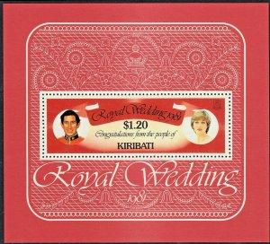 Kiribati 1981 $1.20 Royal Wedding Miniature Sheet MUH