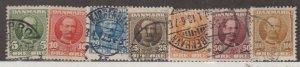 Denmark Scott #72-78 Stamp - Used Set