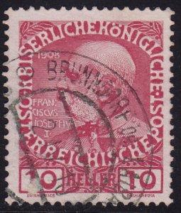 Austria - 1908 - Scott #115 - used - BRUNNDORF Slovenia