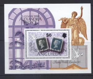 ANGUILLA -Scott 820- Stamp World 90 -1990- MNH - Souvienir Sheet  $6