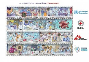 NIGER - 2020 - Fight Against COVID-19 - Perf 16v Sheet - Mint Never Hinged