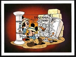 Tanzania-SC#697-Disney-Mickey as Actor-sheet-Unused-NH-