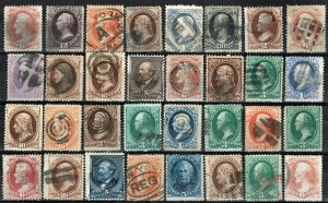 [0185] 1870-90 Selection of 32 Bank note issue used