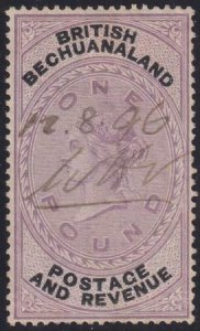 Bechuanaland 1887 SC 21 Used Pen Cancel