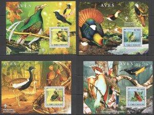 BC1374 2007 SAO TOME & PRINCIPE BIRDS FAUNA SCOUTING 4BL MNH