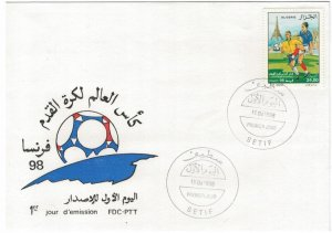 Algeria 1998 FDC Stamps Scott 1120 Sport Soccer Football World Cup Championships