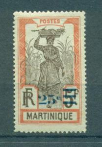 Martinique sc# 122 mh cat value $2.10