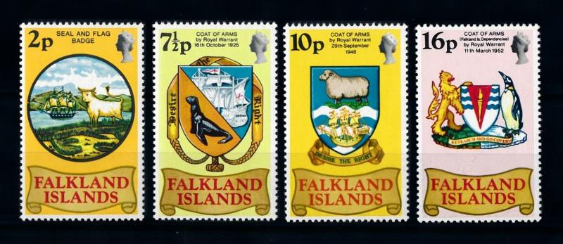 [71948] Falkland Islands 1975 Coat of Arms Cow Sheep Seal Lion Penguin  MNH