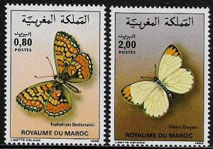 Morocco #610-1 MNH Set - Butterflies