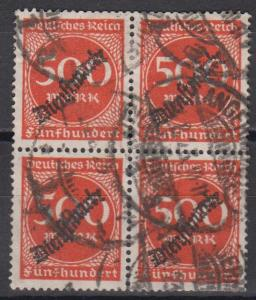 Germany #O28 F-VF Used Block CV $6.00 (B8286)