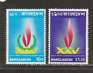 Bangladesh Scott catalog # 56-57 Unused HR