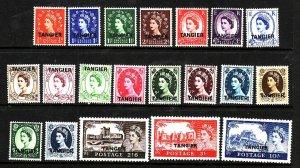 GBOA-Tangier-Sc#559-78-unused NH set-QEII-1952-4-