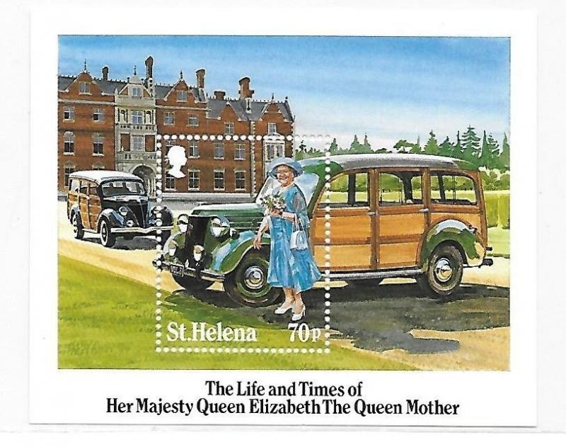 St.Helena 1985 Queen Mother S/S MNH B21