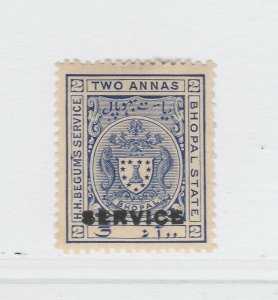 A5P9F35bis Indian States Bhopal Official Stamp 1908-11 optd O1 2a mh*