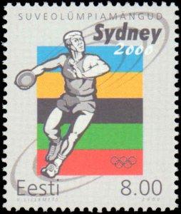 Estonia #399, Complete Set, 2000, Olympics, Never Hinged